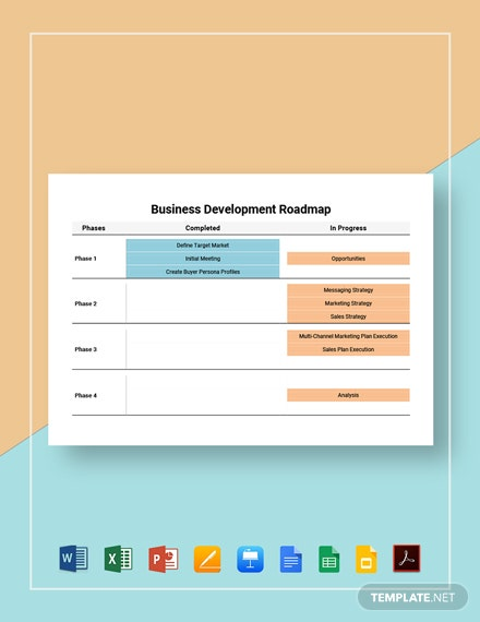 Business Development Roadmap Template