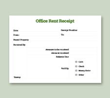 Office Rent Receipt Template