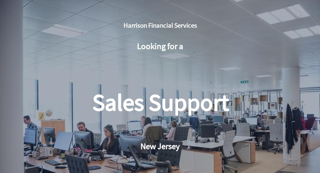 Sales Support Job Description Template