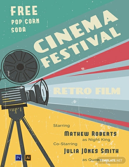 Free Retro Film Poster Template
