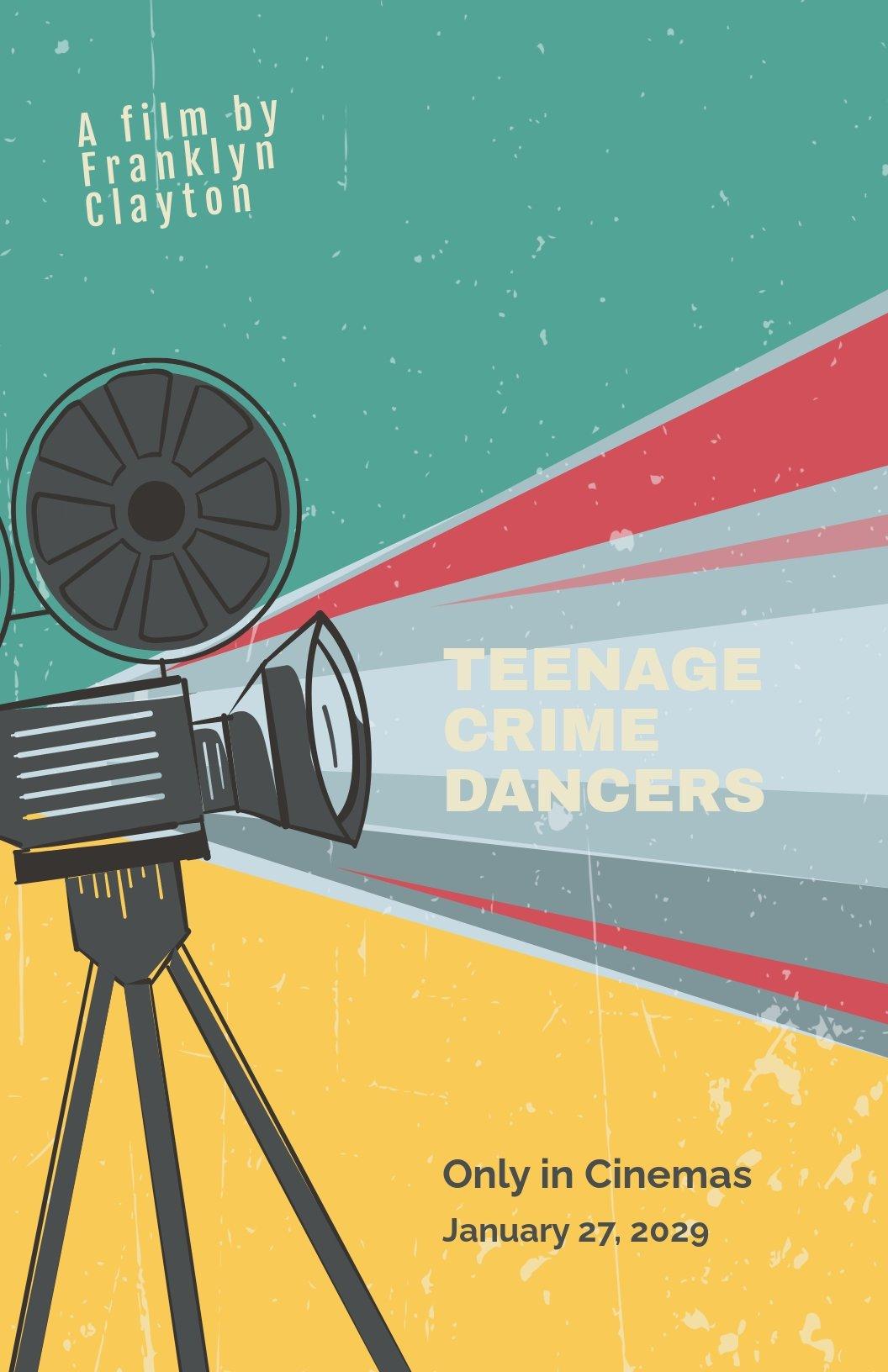 Retro Film Poster Template