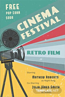 Free Retro Film Poster Template