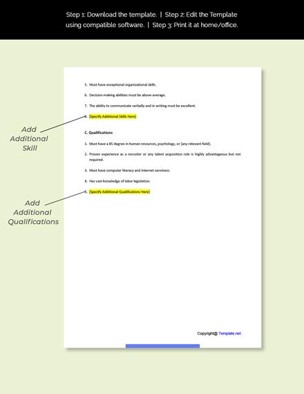 Contract Recruiter Job Description Template