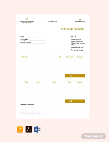 Free-Transport-Receipt-Template