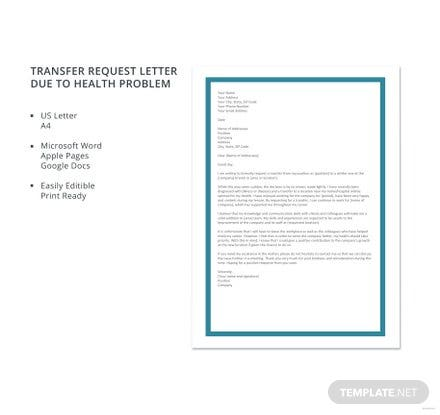 Transfer request letter due to health problem template download 700 transfer request letter due to health problem template thecheapjerseys Gallery