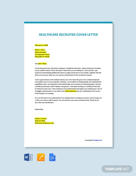 Healthcare Recruiter Cover Letter