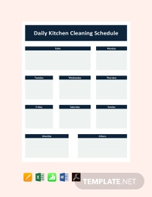 Free Daily Kitchen Cleaning Schedule Template