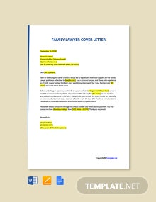 Free Family Lawyer Cover Letter Template