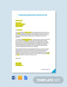 Free Physician Recruiter Cover Letter Template