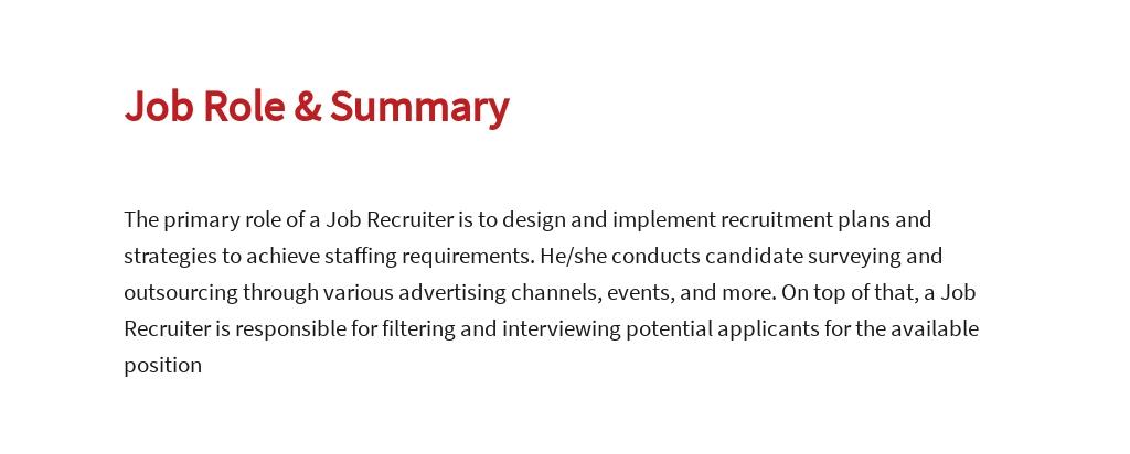 Free Job Recruiter Job Description Template 2.jpe