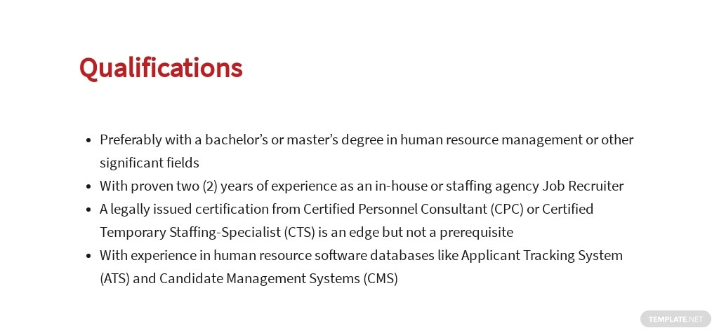 Free Job Recruiter Job Description Template 5.jpe