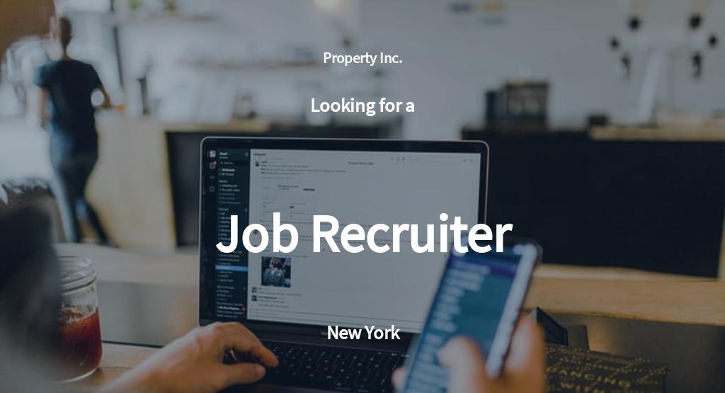 Free Job Recruiter Job Description Template.jpe