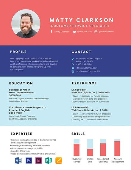 Free BPO Experience Resume
