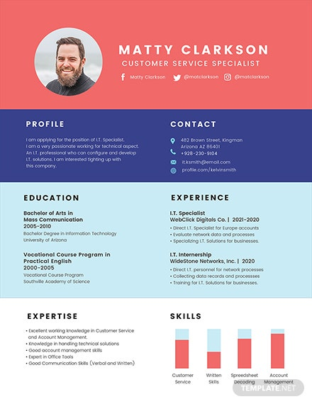 BPO Experience Resume