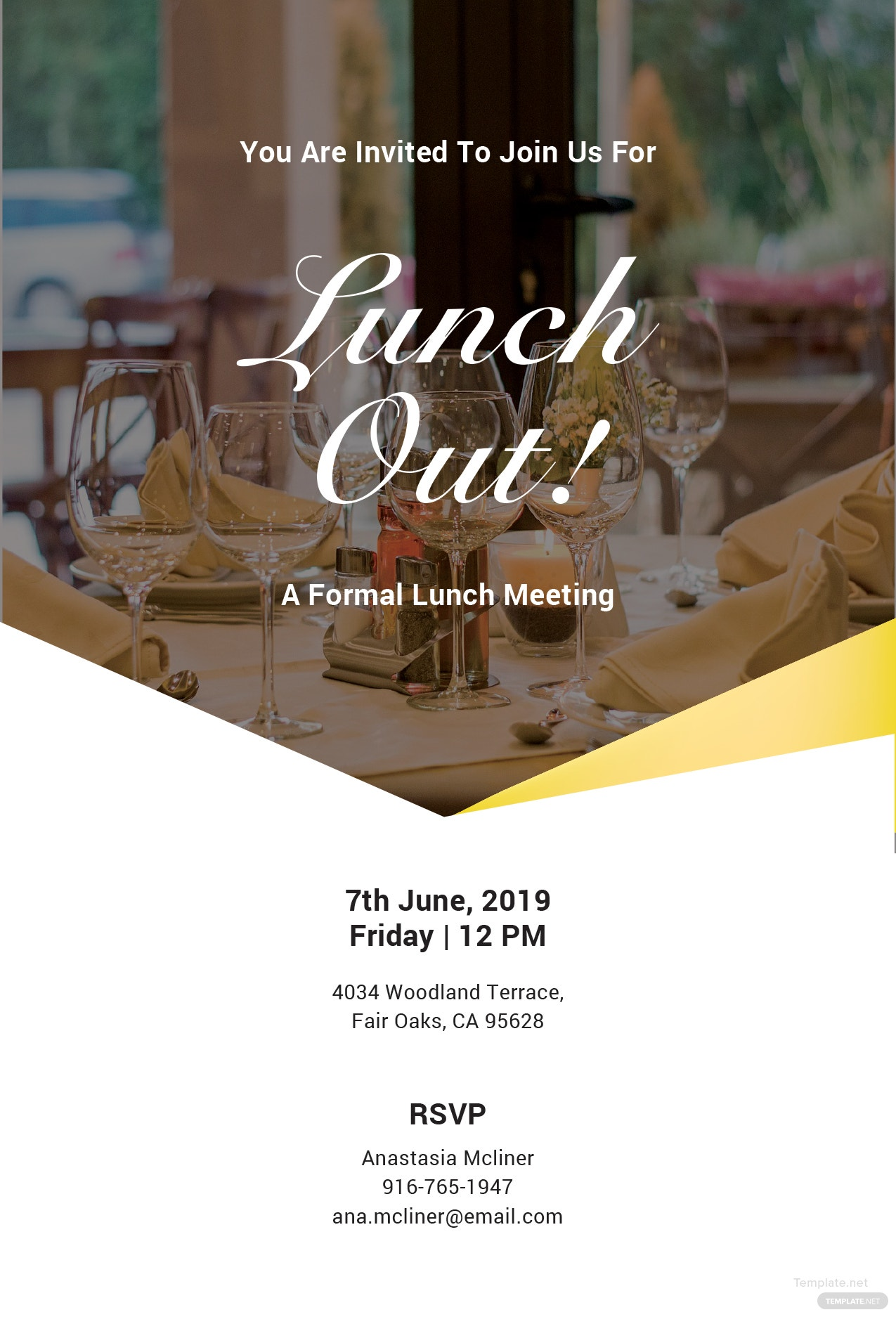 Free Formal Lunch Invitation Template In Microsoft Word