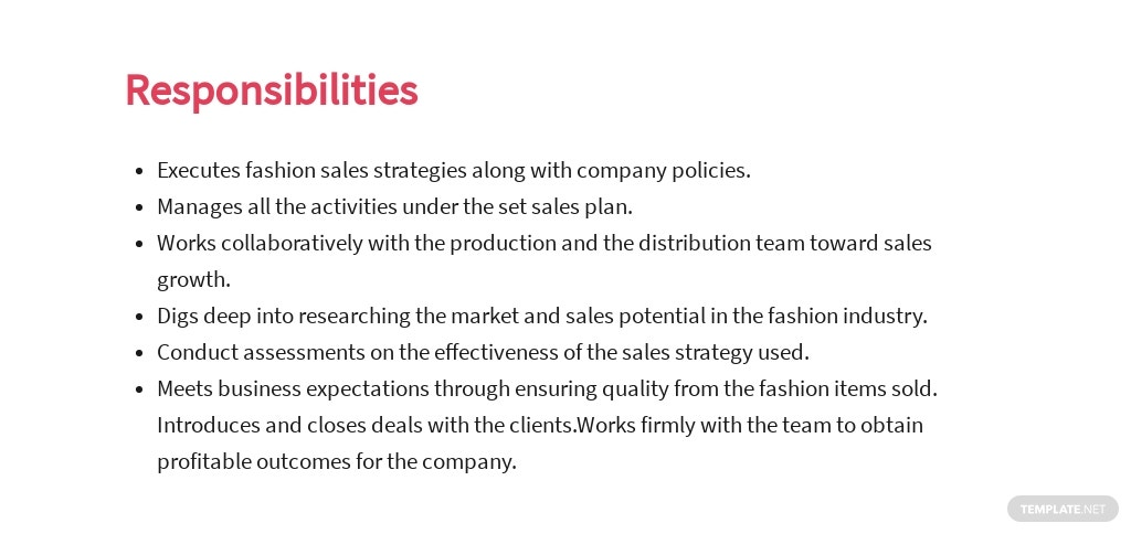 Free Fashion Sales Executive Job Ad and Description Template 3.jpe