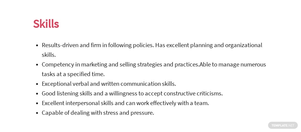 Free Fashion Sales Executive Job Ad and Description Template 4.jpe