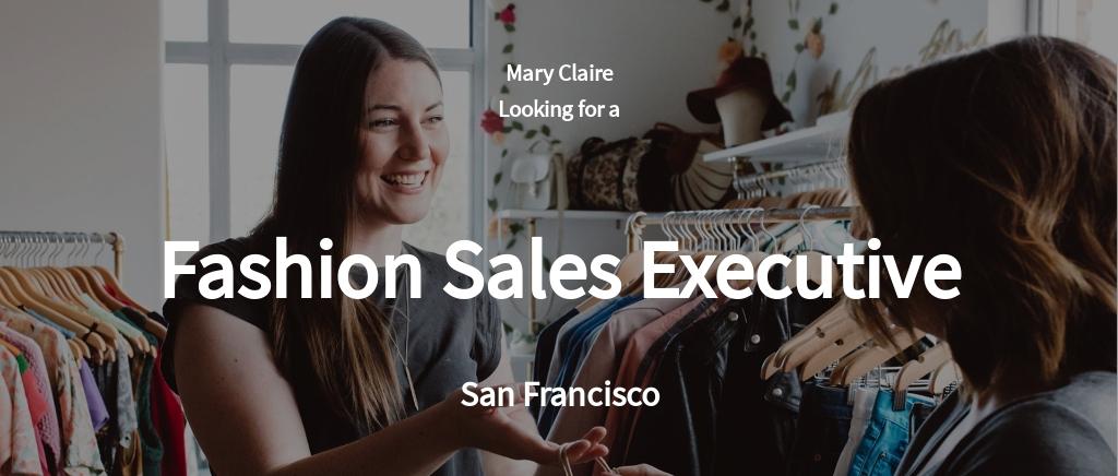Free Fashion Sales Executive Job Ad and Description Template.jpe