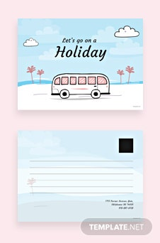 Holiday Postcard Template