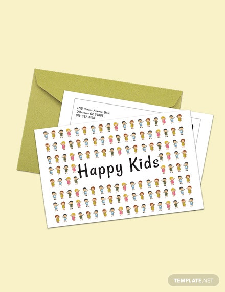 Free Kid's Postcard Template