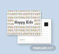Kids Postcard Template