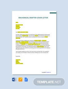 Free Mechanical Drafter Cover Letter Template