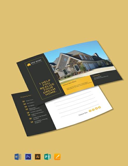 Free Realtor Postcard Template