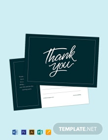 Free Thank You Postcard Template
