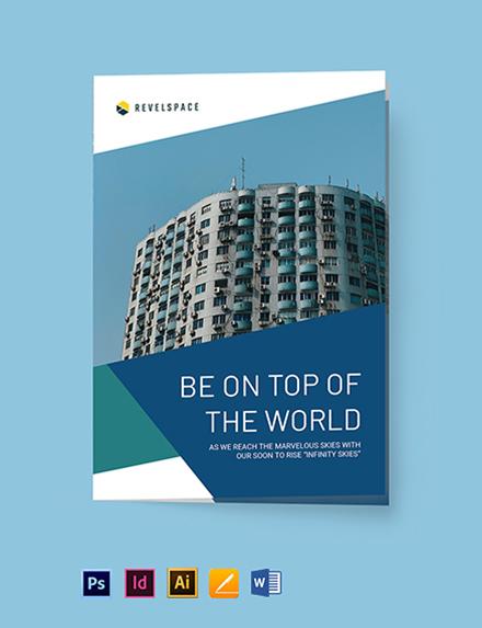 Construction Site Bi-Fold Brochure Template