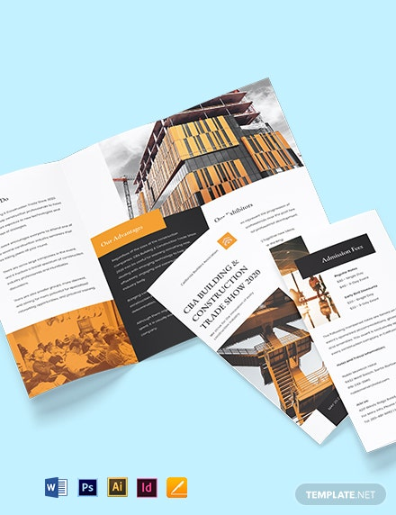 Builders Trade Show Tri-Fold Brochure Template