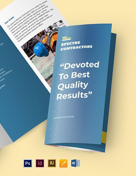 Contractor Tri-Fold Brochure Template