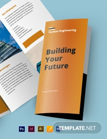 Civil Engineer Tri-Fold Brochure Template
