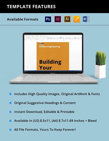 Civil engineer TriFold Brochure format