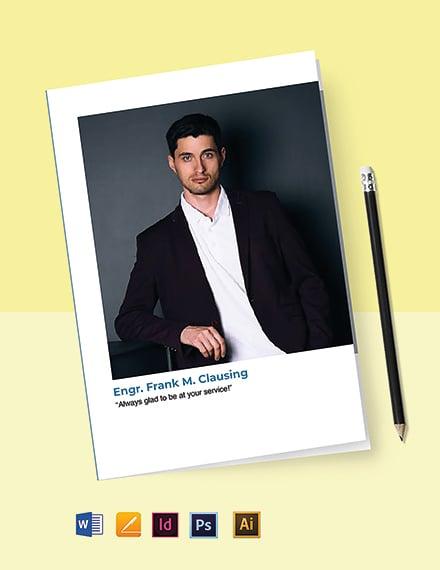 Civil Engineer Bi-Fold Brochure Template