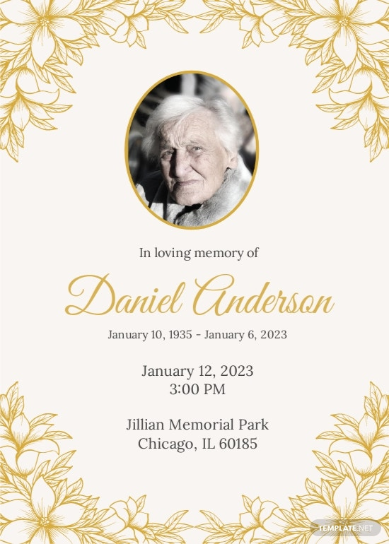Funeral Ceremony Invitation Template.jpe