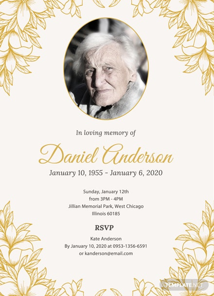 Free Funeral Ceremony Invitation Template: Download 344+ Invitations ...