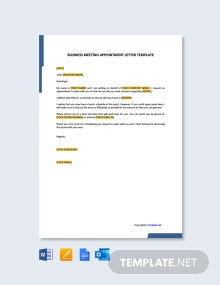 Free Business Meeting Appointment Letter Template
