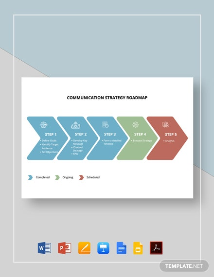 Communication Strategy Roadmap Template