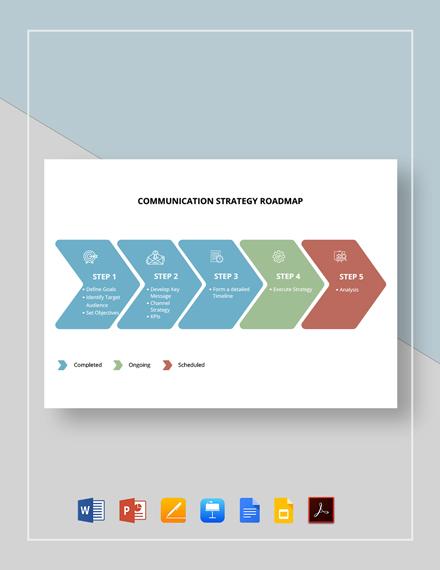 Communication Strategy Roadmap Template