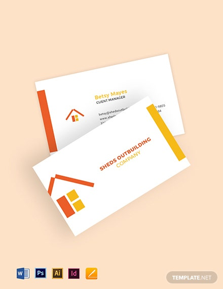 Outbuildings Business Card Template