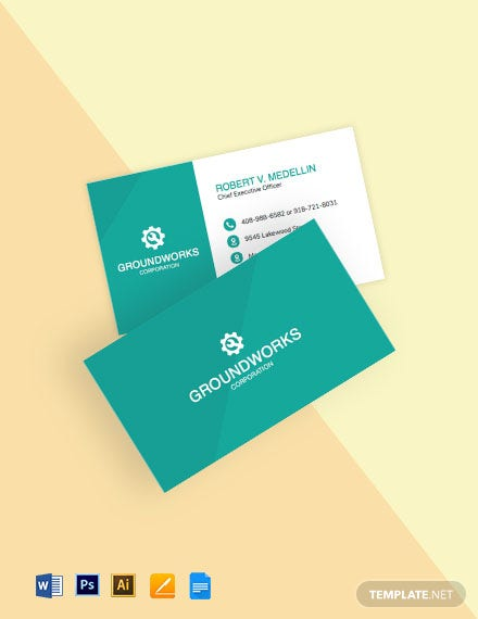 Heavy Equipment Business Card Template