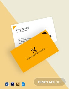 Building Materials Business Card Template