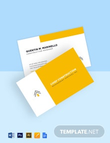 Management Services Business Card Template