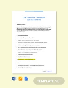Free Healthcare Lawyer Job Ad and Description Template