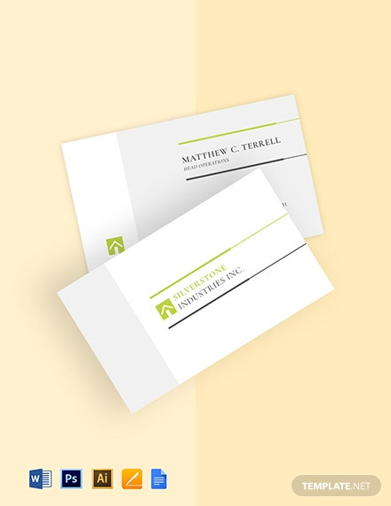 Free General Contractor Business Card Template