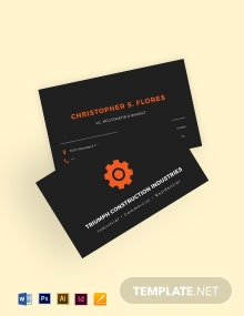 Industrial & Commercial Business Card Template