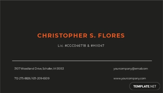 Industrial  Commercial Business Card Template 1.jpe