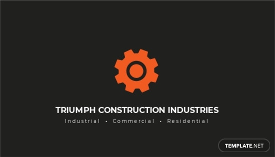 Industrial  Commercial Business Card Template.jpe
