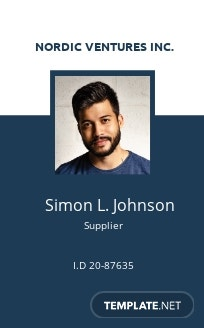 Supplier ID Card Template