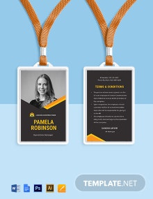 Contractor ID Card Template